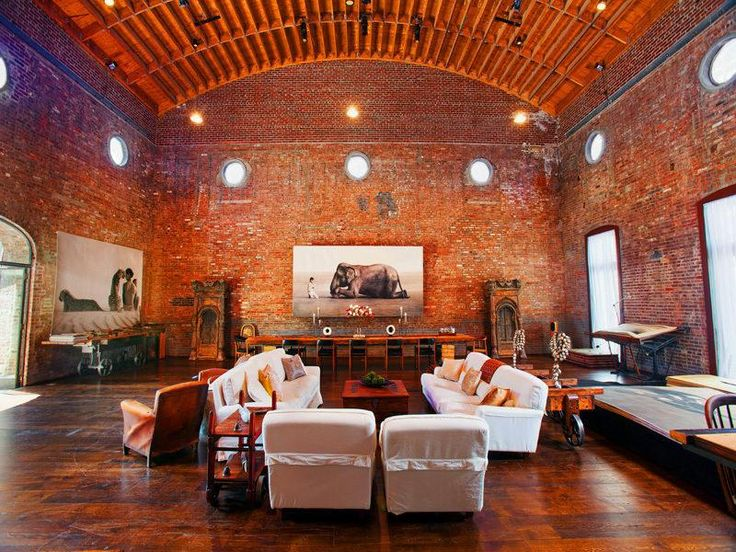 Architecture, Brown Color Brick Concepts Wall Some Lighting Lamps White Color Soft Sofa Example The Style Of Decoration Manhattan Lofts Denver Wall Small Window Door Large Shaped Picture Wall ~ Best And Nice Example Of Manhattan Lofts Denver That You Choose As The Style Of Furniture In Your Room