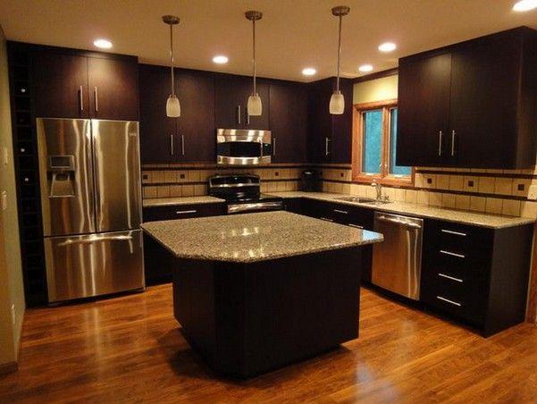 10 Warmly Brown Scheme Kitchen Ideas For Your Cold Kitchen Dark Brown Kitchen Cabinets Brown Kitchen Cabinets Dark Wood Kitchens