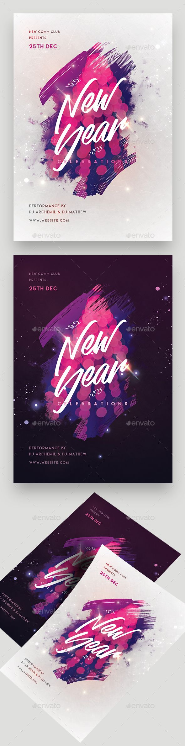 #New Year Party #Flyer - Clubs & Parties #Events