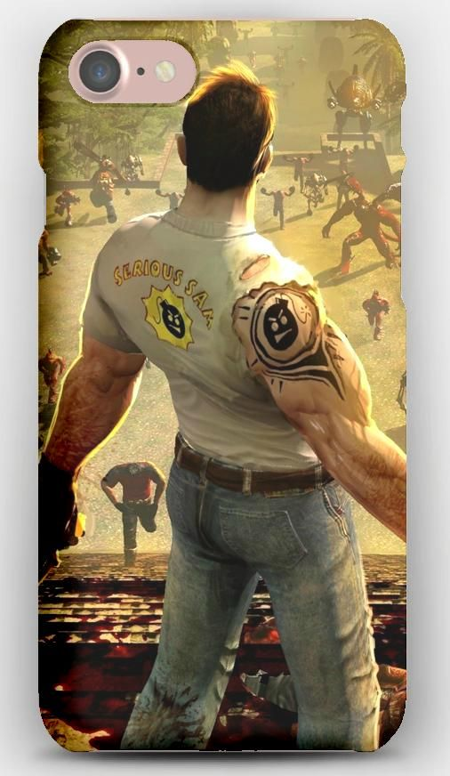 iPhone 7 Case Serious sam, Samuel stone, Monsters, Gun, Pyramid
