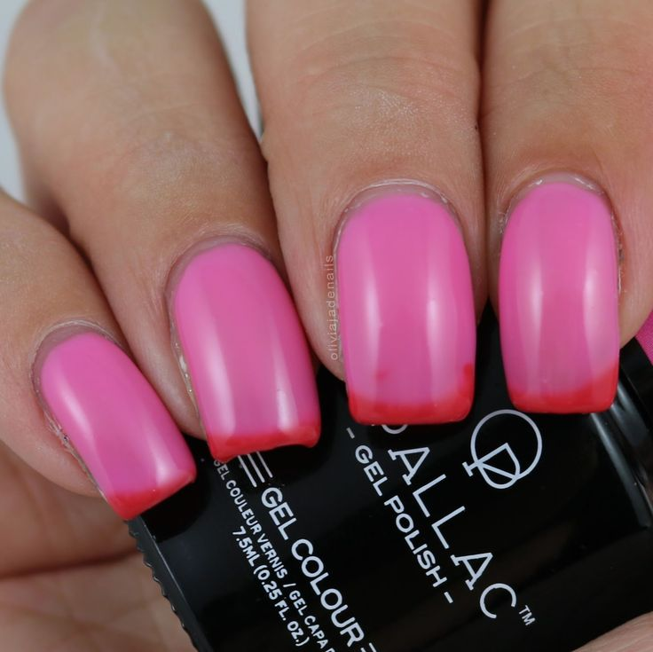 Opallac Gel Polish Poured In Pink swatched by Olivia Jade Nails