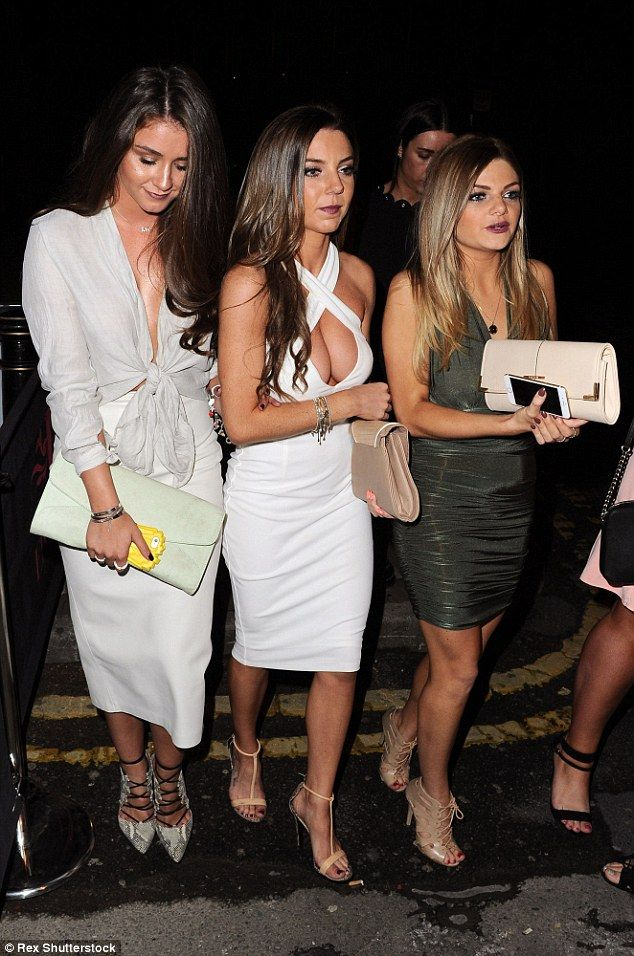 Girls' night out! Brooke, who admitted her skirt's zip broke during the night out, headed to the launch of The Oxford Club's Eivissa with some gal pals