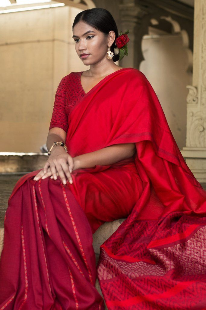 Ruby Bride Saree from FashionMarket.lk
