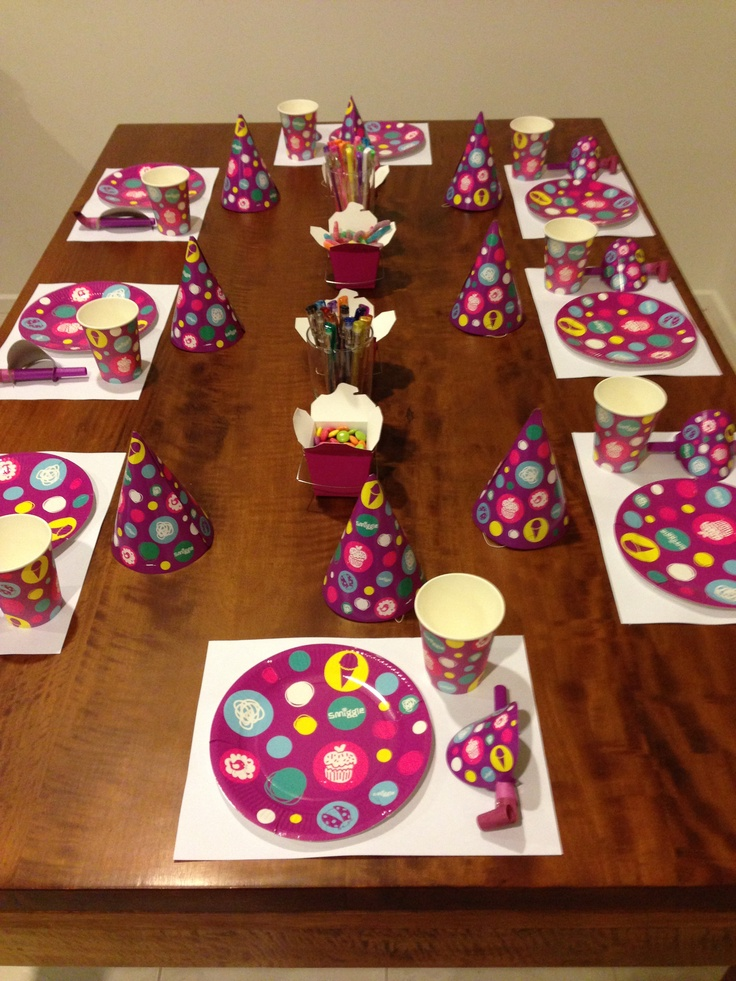 The tableware, which was released for Smiggle's 10th Birthday