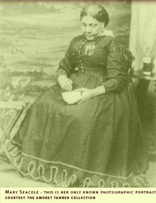 Mary Seacole - Crimean War Veteran nurse. Voted the Greatest Black Briton