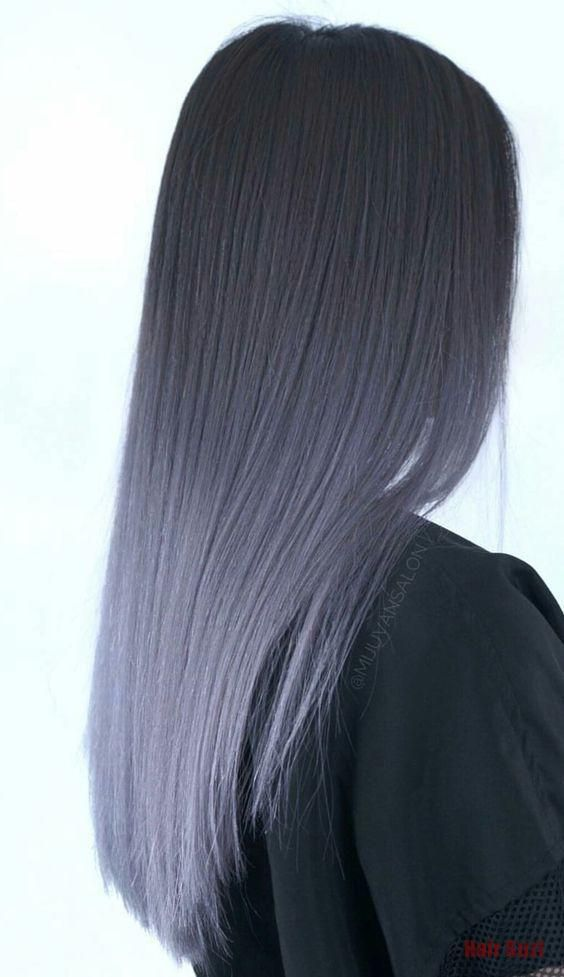 Grey Ombre Hair #dyedhair #dyedhairombre Ombre