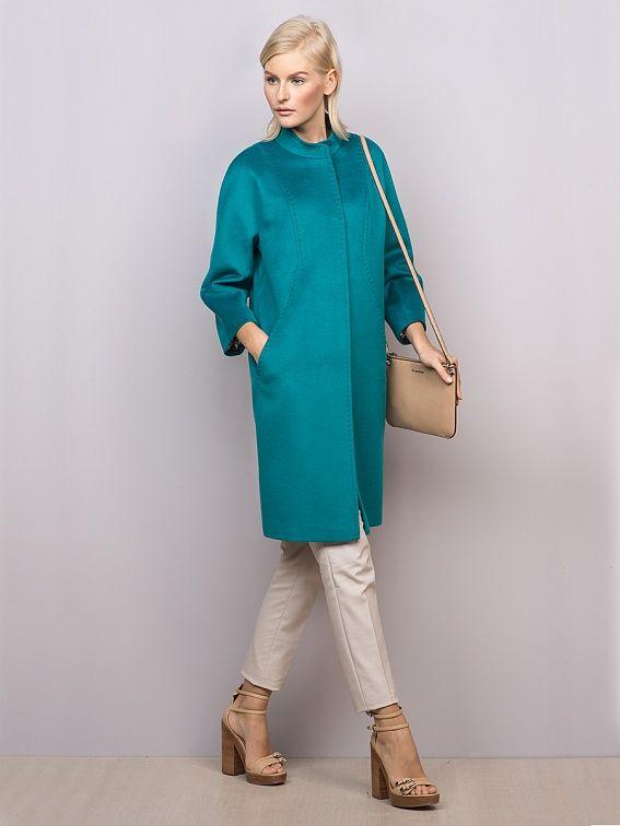 Пальто женское цвет бирюзовый, Ворс, артикул 3014750p00051