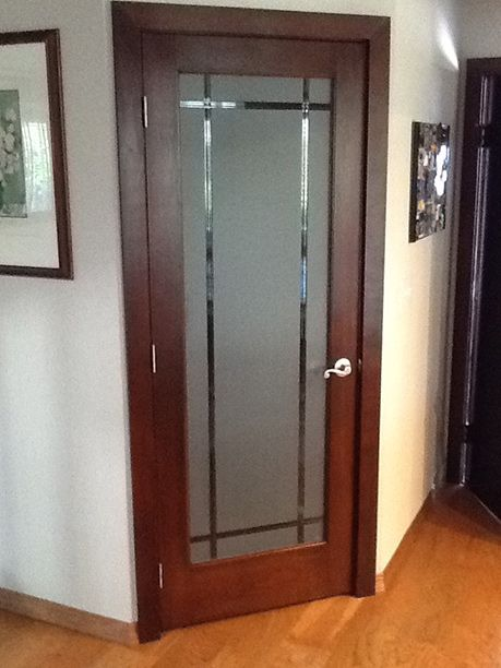 Leaded Glass Doors With Frosted Glass For Pantry, Laundry, Office, Ect.. Glass  Kitchen CabinetsKitchen ...