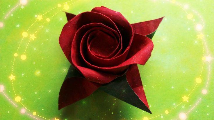 Оригами Роза Masahiro Ichikawa. Как Сделать Розу. Цветы Из Бумаги. Origa...