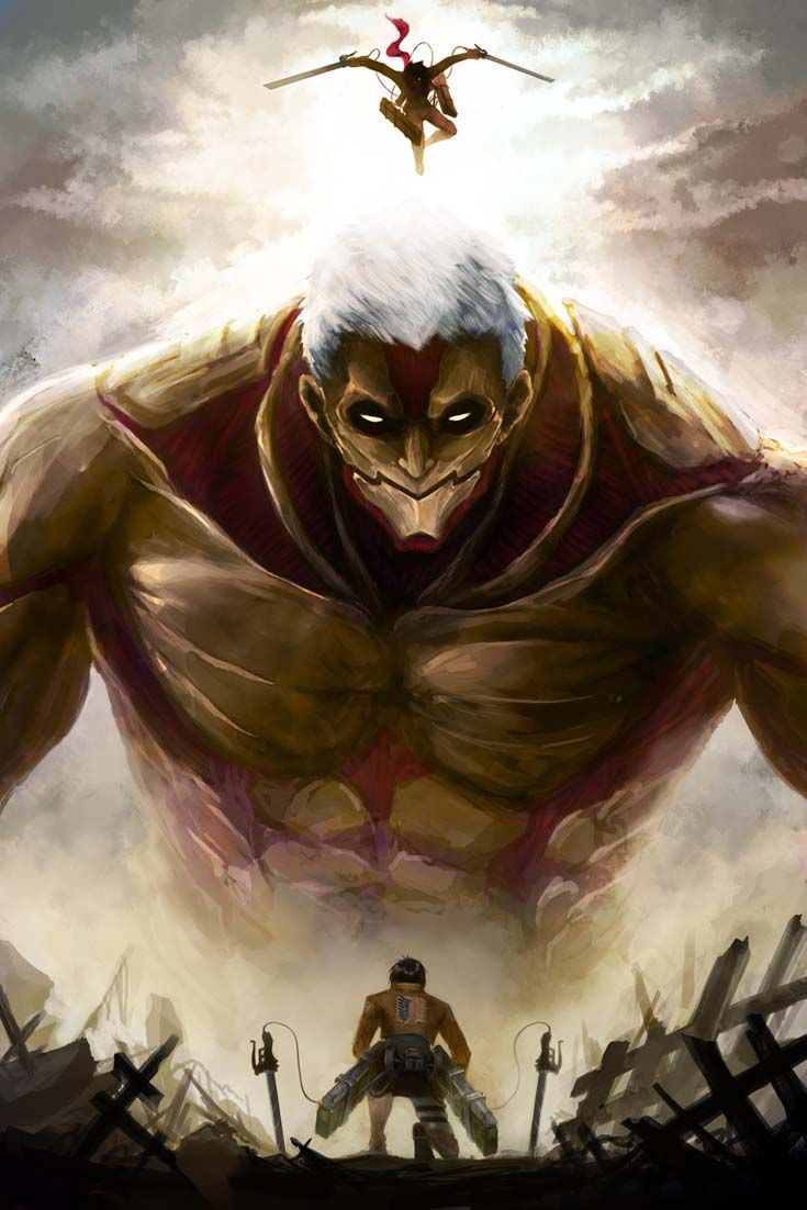 Shingeki No Kyojin Eren Vs Colossal Titan Animes Wallpapers Anime