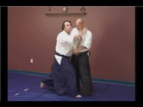 Aikido Basics: Morotedori Waza : Aikido Sayunage Wrist Grab Defense - YouTube