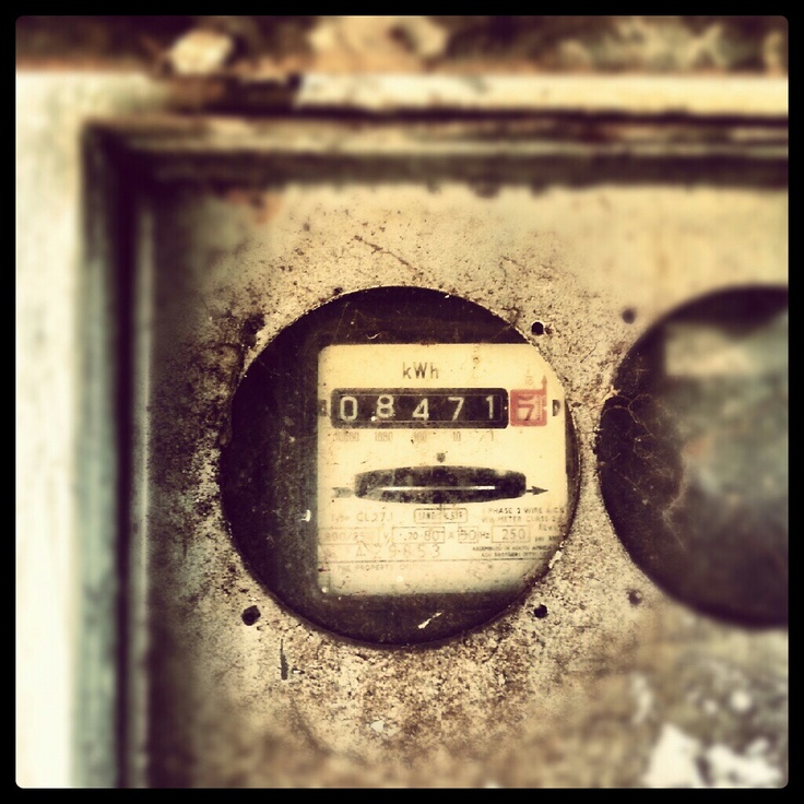 My electricity box. I love old things