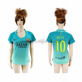 Barcelona Dámské Fotbalové Dresy 2016-17 Messi 10 3rd dres