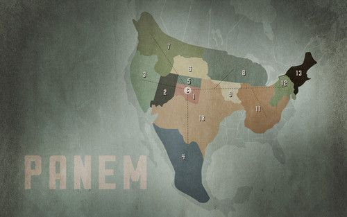 The Hunger Games Fan Art: Hunger Games Panem Map...if the us was panem...Pennsylvania should be more district 12 than 11 with how much coal we produce