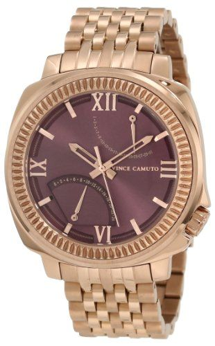 Vince Camuto Men 27s Vc 2f1002byrg The Veteran Wine Dial Date Function Rosegold