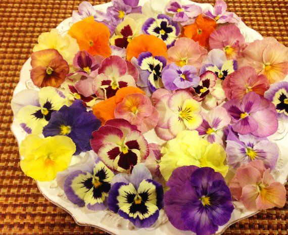 Edible Flowers Pansy Mix Etsy Edible Flowers Edible Flowers Recipes Edible
