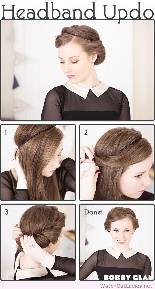 The headband tuck would be such an easy thing to do on mornings when I have no time