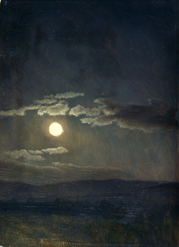 Albert Bierstadt, Cloud Study, Moonlight, 1860