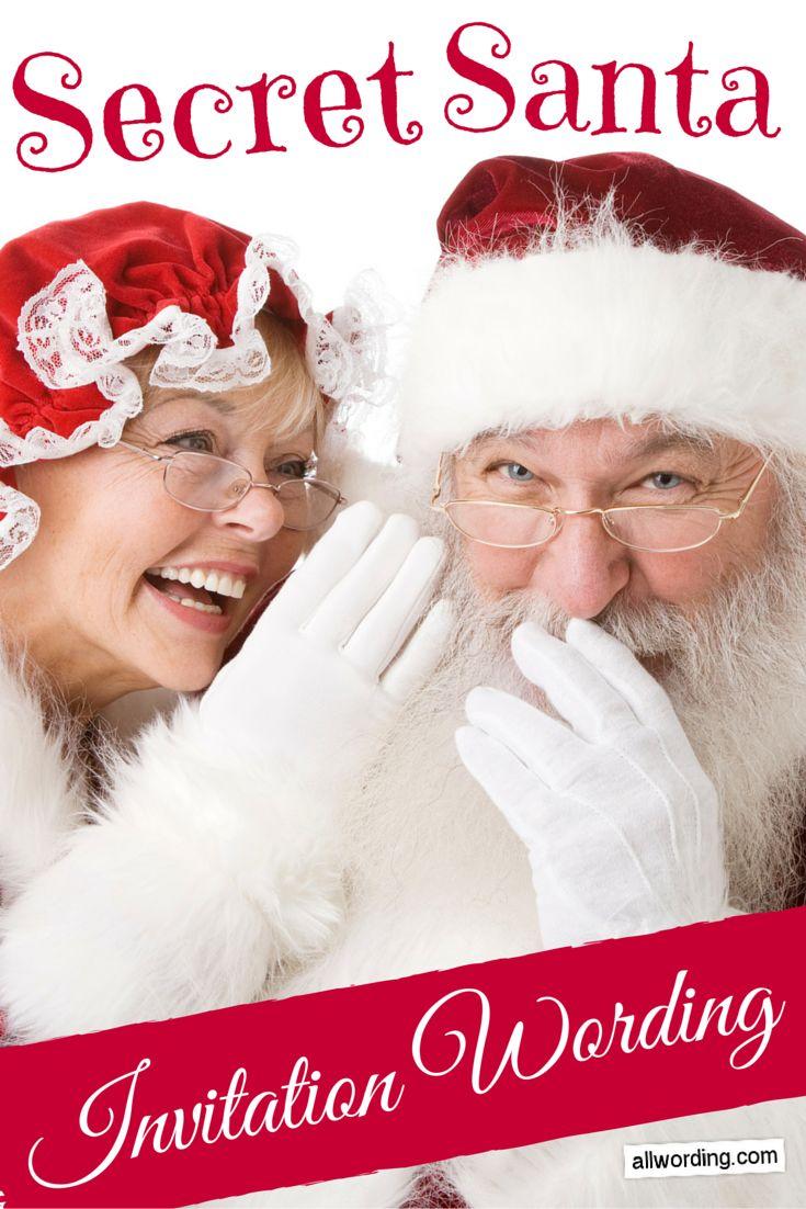 Baby Gift Exchange Ideas : Secret santa invitation wording ideas