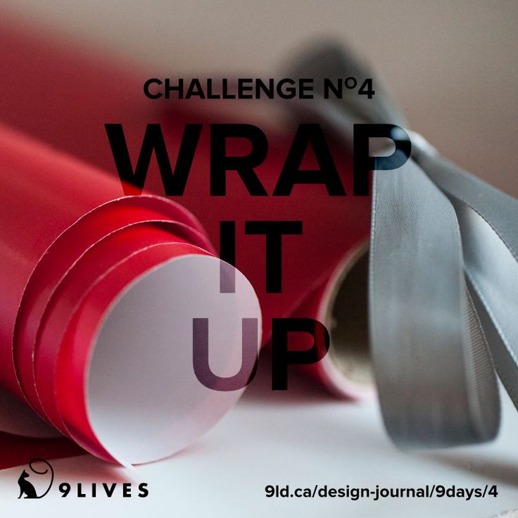 9 Lives Design Holiday Spirit Challenge #4 – Wrap it Up. Read clever ways to wrap gifts and repurpose items around the home at http://www.9livesdesign.ca/design-journal/9days/4