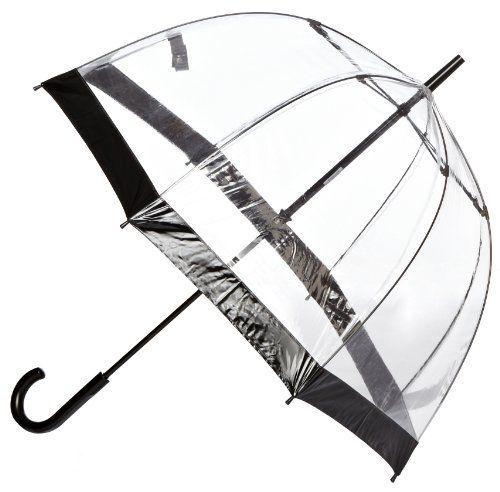 Fulton Birdcage - Paraguas Transparente Negro - http://comprarparaguas.com/baratos/transparentes/fulton-birdcage-paraguas-transparente-negro/
