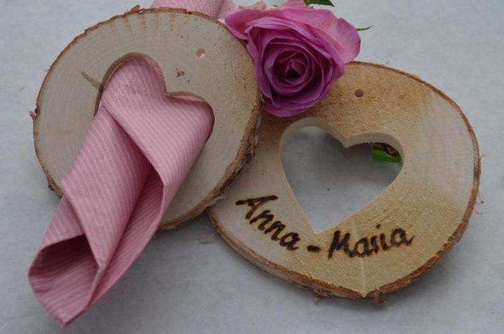 Namensschild Tischkarte Hochzeit Gastgeschenk von Majalino auf DaWanda.com