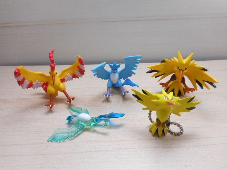 Pokemon Tomy Articuno Zapdos Moltres Figure Monster Collection Mini Set Toy #TOMY
