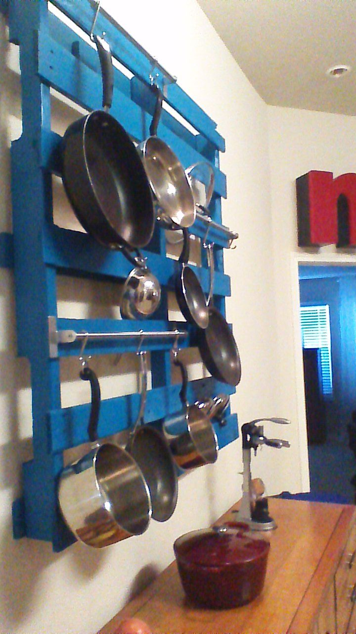 R Pallet Pot Rack All Done Kitchen Remodel Small
