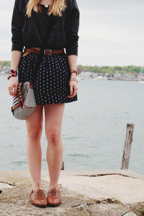 anchors + brogues