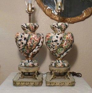 Pair Antique Capodimonte Lamps In 2019 Capodimonte Lamps