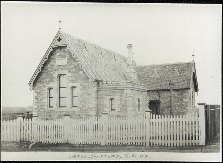 Canterbury Public School - 1879 building. Circa 1885. Courtesy State Records NSW.