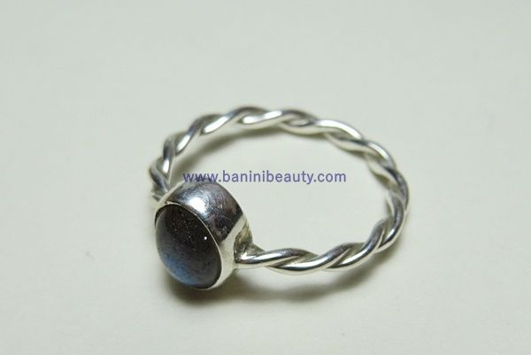 Crafts: Labradorite Bezel Set Silver Ring - Banini Beauty