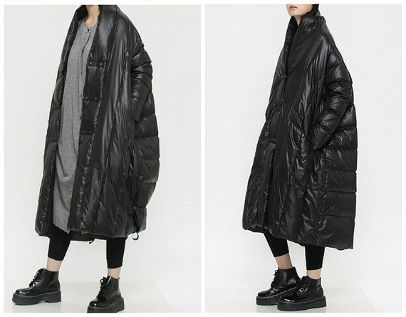womens winter coats jackets in blackfeaturing by QandAfashion