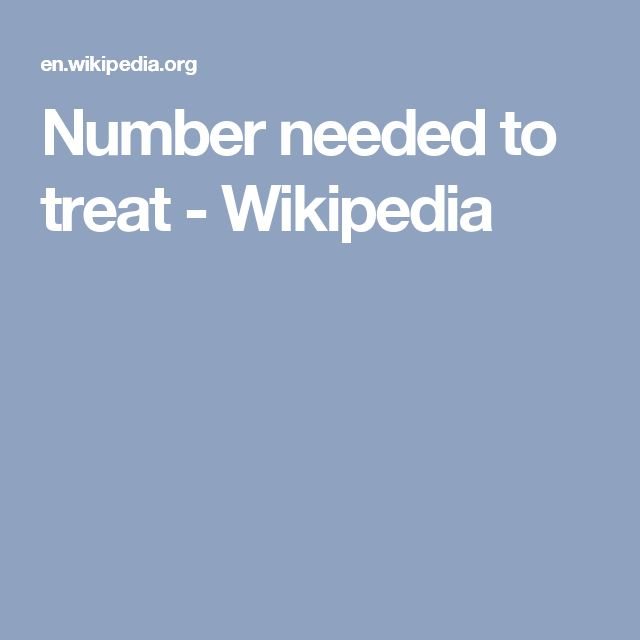 Number needed to treat - Wikipedia