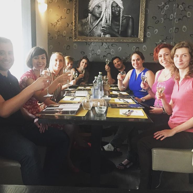 Happy Monday to all! #peopleplace #prosecco # bestworkplace #teamlunch