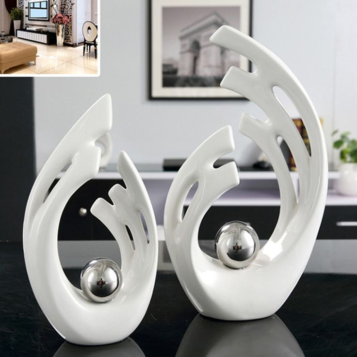 Aliexpress.com : Buy White Decorative Ceramic Abstract Sculpture Crafts Originality Home Decor Plated Modern Ornament Porcelain of Art Fashion  from Reliable ornamental granite suppliers on Handicraftsman