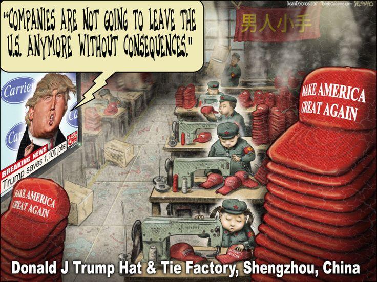 Political cartoon U.S. Donald Trump MAGA hats