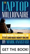 """Mark Anastasi's bestselling book """"The Laptop Millionaire"""" is packed with tips, strategies and ideas to inspire you to set up your own #internetbusiness 