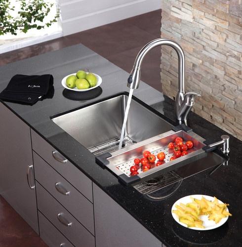 kraus kitchen sink colander modern kitchen tools new york expressdecorcom. beautiful ideas. Home Design Ideas