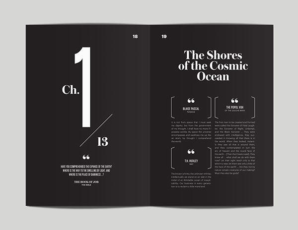 Cosmos—Revisited and Redesigned by Flora Chan, via Behance
