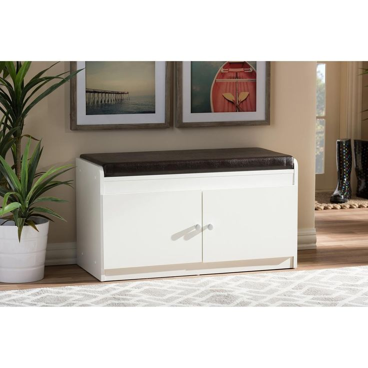Hemnes Ikea Replacement Parts ~ 17 in Margaret Modern and Contemporary White Wood 2 Door Shoe Cabinet