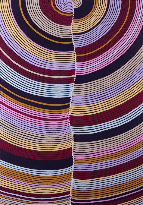 Art aborigène. /  Sandhill Country. / Galerie Arts d'Australie Stephane Jacob, Paris. / By Abie Loy Kemarre.