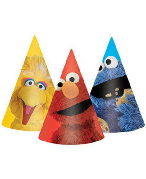 Sesame Street Elmo Party Favor Cone Hats