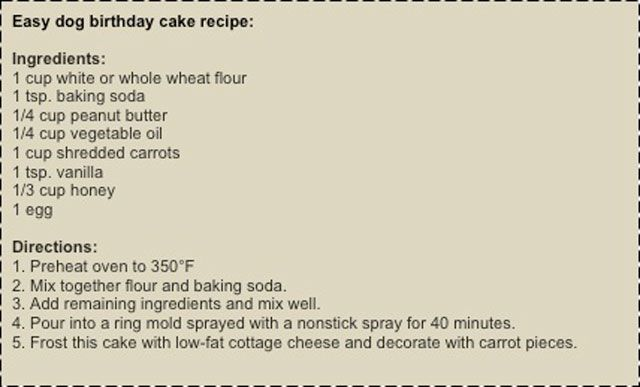 Cesar Millan Dog Birthday Cake Recipe