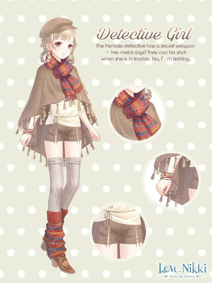 Detective Girl Cute Anime Character Anime Outfits Female Detective