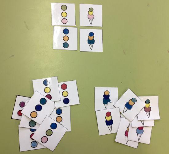 TresQuatreiCinc. Racó matemàtiques P4. Lògica. Combinacions de tres colors