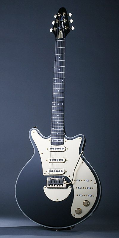 """Brian May """"Black n Gold Special"""". One in the new range of Brain May clearly guitars based on his fave Danelectro."""
