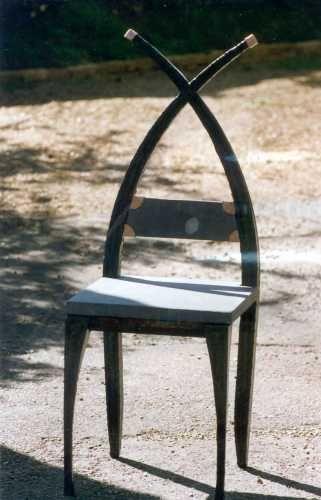 Crossback Chair,Laser cut steel & Slate.