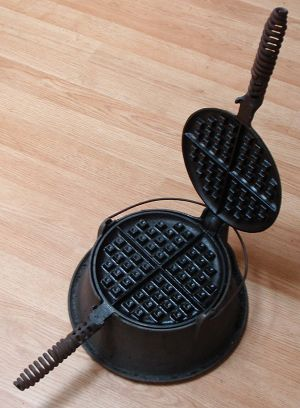Waffles made in cast iron are SO GOOD. Great for cooking hash browns too!