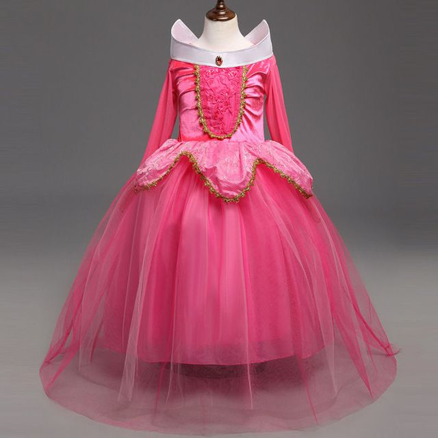 546fe17539907 ABGMEDR Brand Children Christmas Clothing Girls Princess Aurora ...